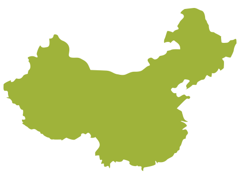 silhouette of China