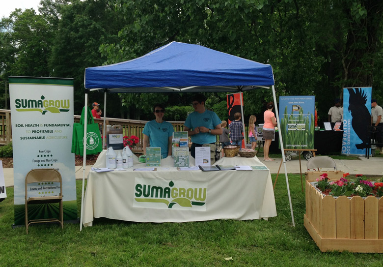 SumaGrow booth at Earth Day event