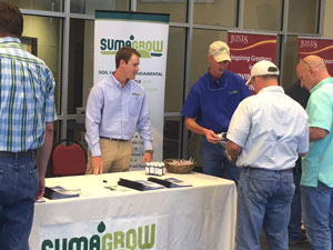representatives from BSEI discuss SumaGrow with cattleman's associates